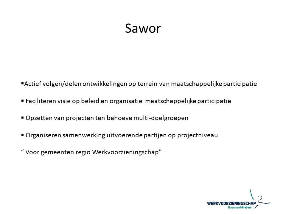 Sawor Actief volgen/delen ontwikkelingen op terrein van maatschappelijke participatie.