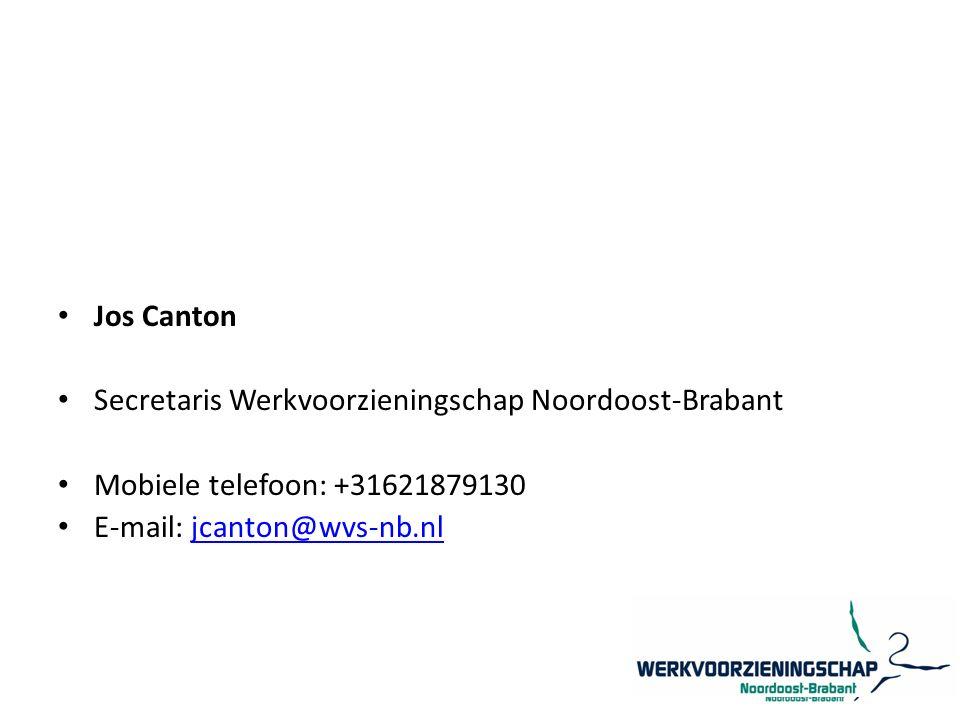 Jos Canton Secretaris Werkvoorzieningschap Noordoost-Brabant.