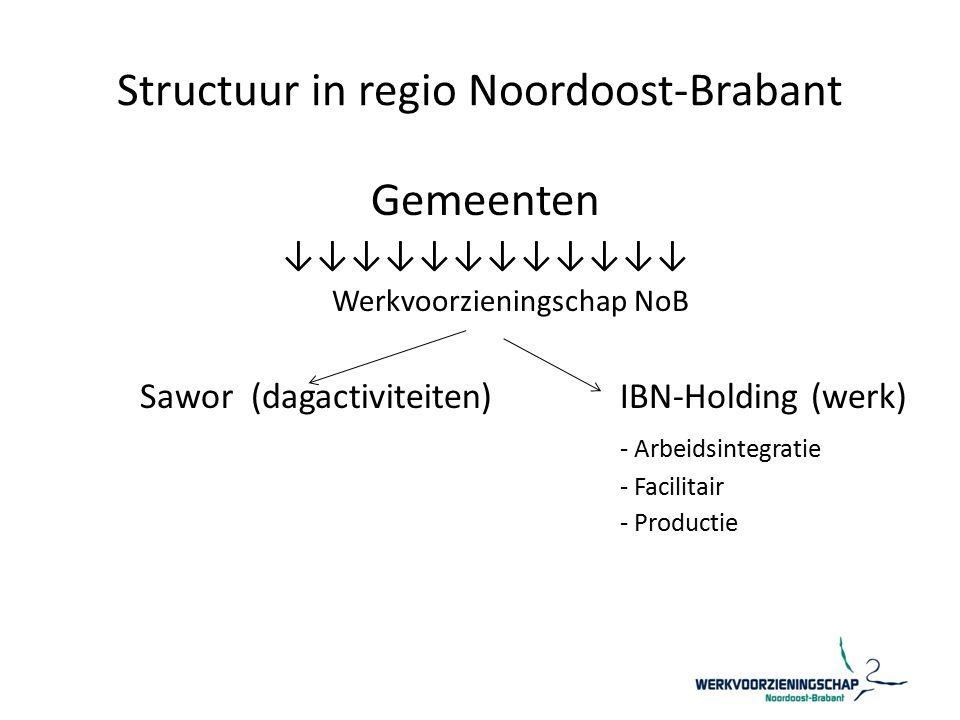 Structuur in regio Noordoost-Brabant