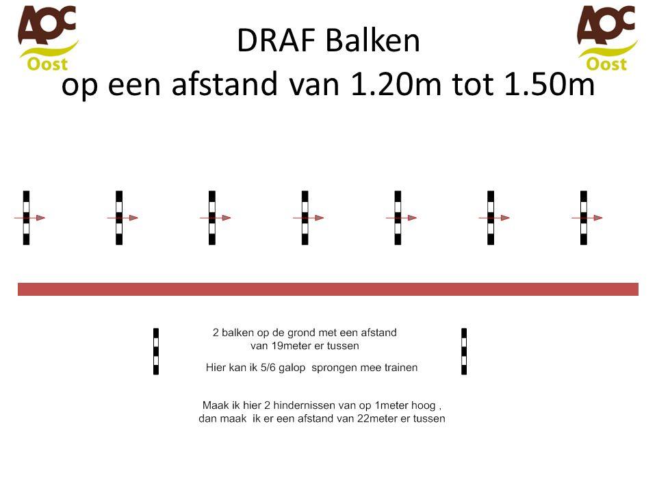DRAF Balken op een afstand van 1.20m tot 1.50m