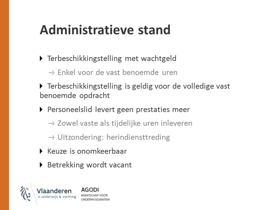 Administratieve stand