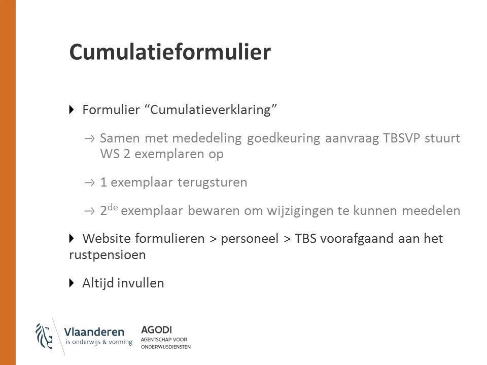 Cumulatieformulier Formulier Cumulatieverklaring
