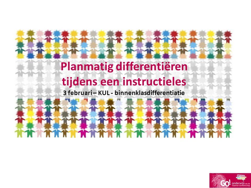 Planmatig differentiëren tijdens een instructieles
