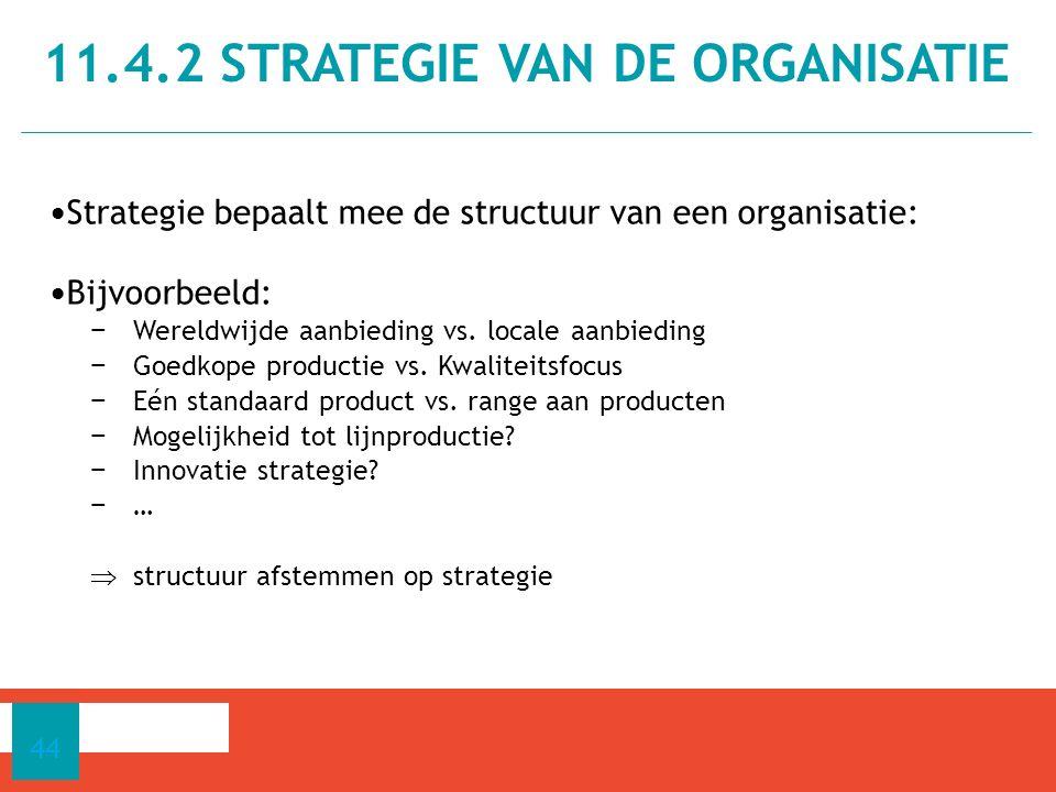 11.4.2 strategie van de organisatie