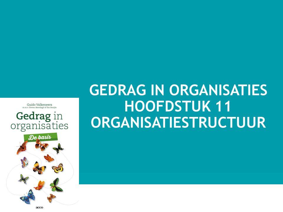 Gedrag in organisaties hoofdstuk 11 Organisatiestructuur
