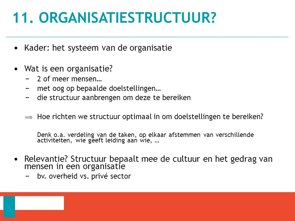 11. organisatiestructuur