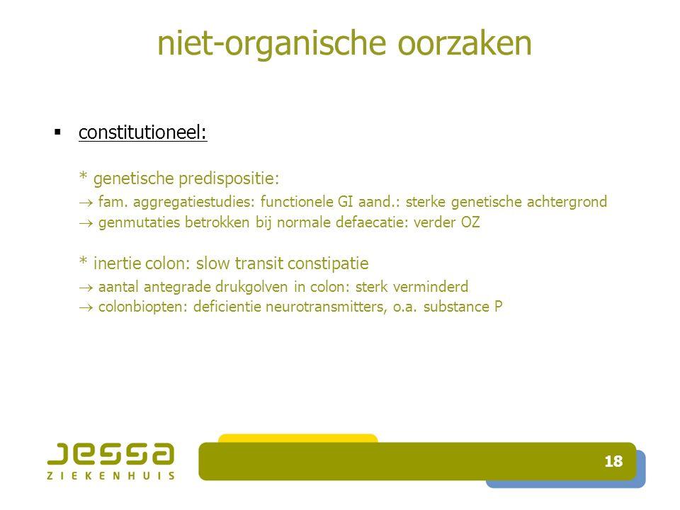 niet-organische oorzaken