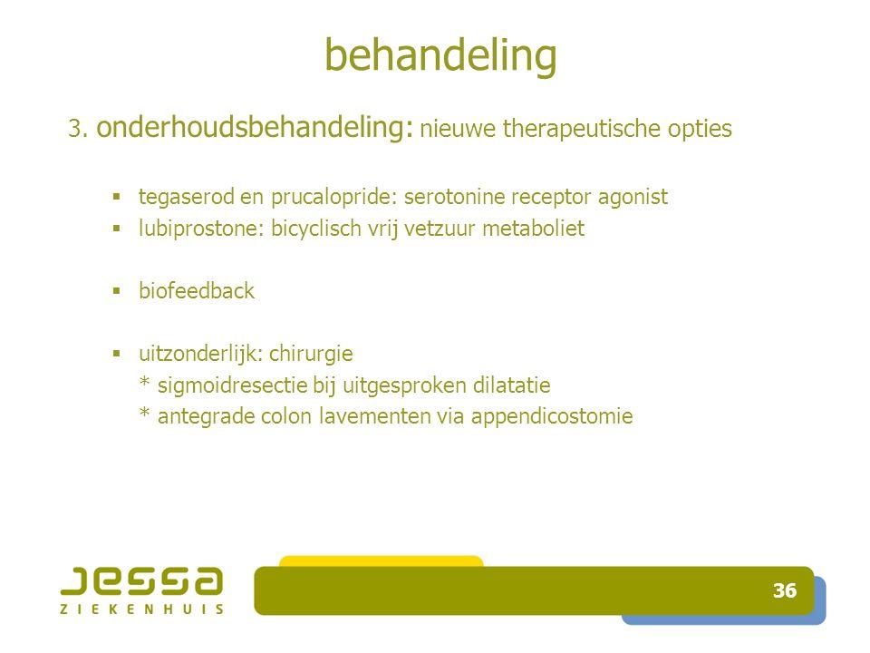 behandeling 3. onderhoudsbehandeling: nieuwe therapeutische opties