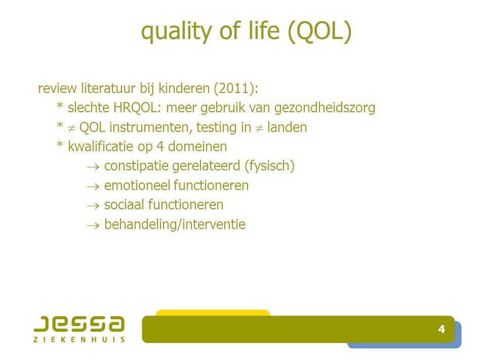 quality of life (QOL) review literatuur bij kinderen (2011):