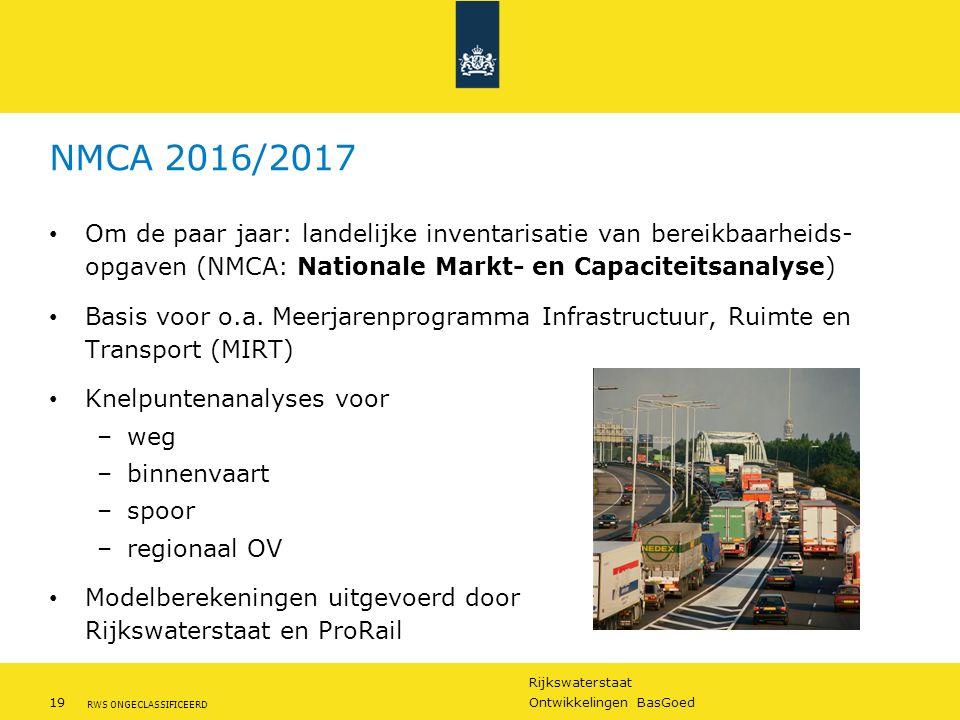 NMCA 2016/2017 Om de paar jaar: landelijke inventarisatie van bereikbaarheids- opgaven (NMCA: Nationale Markt- en Capaciteitsanalyse)