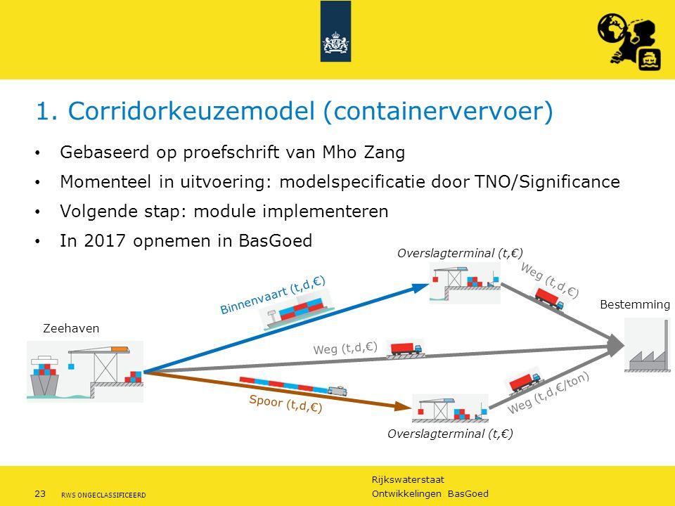 1. Corridorkeuzemodel (containervervoer)
