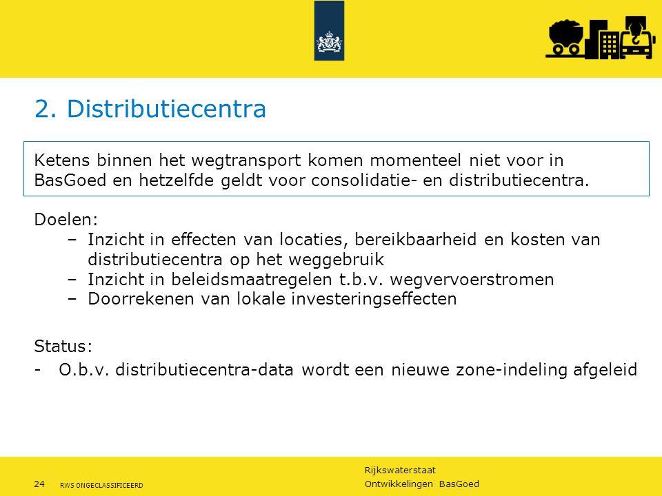 2. Distributiecentra Ketens binnen het wegtransport komen momenteel niet voor in BasGoed en hetzelfde geldt voor consolidatie- en distributiecentra.