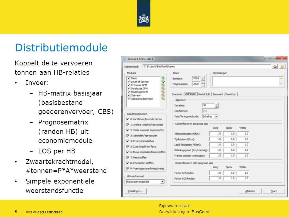 Distributiemodule Koppelt de te vervoeren tonnen aan HB-relaties