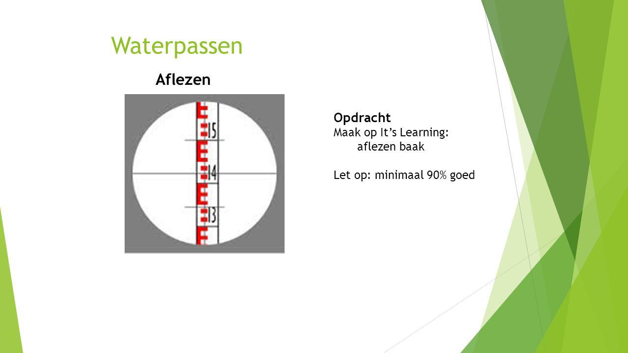 Waterpassen Aflezen Opdracht Maak op It's Learning: aflezen baak
