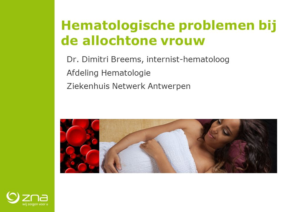 Hematologische problemen bij de allochtone vrouw