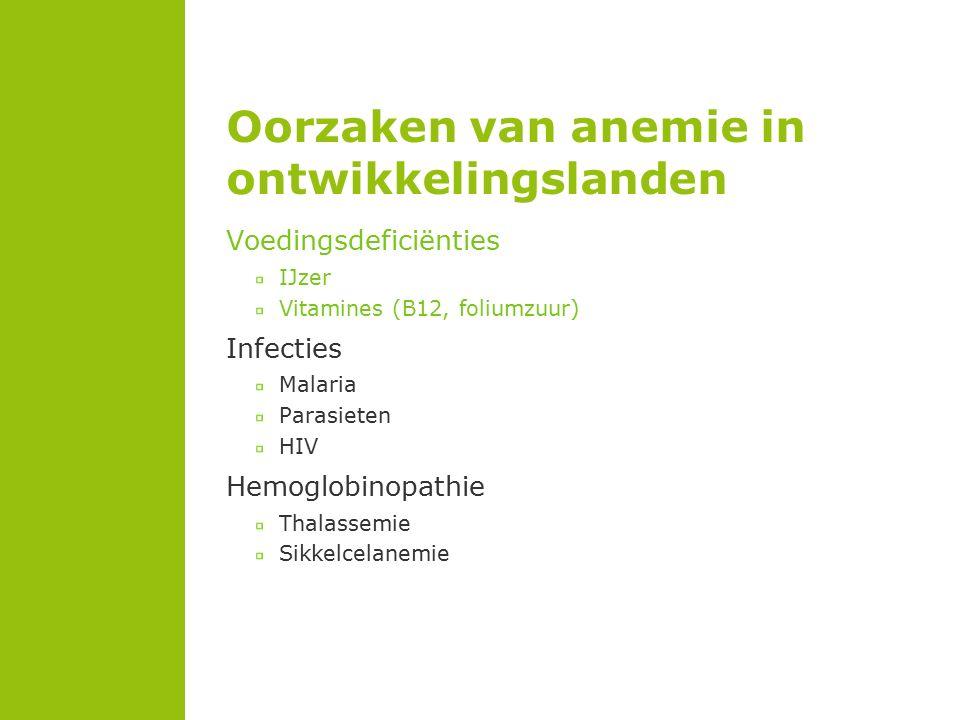 Oorzaken van anemie in ontwikkelingslanden