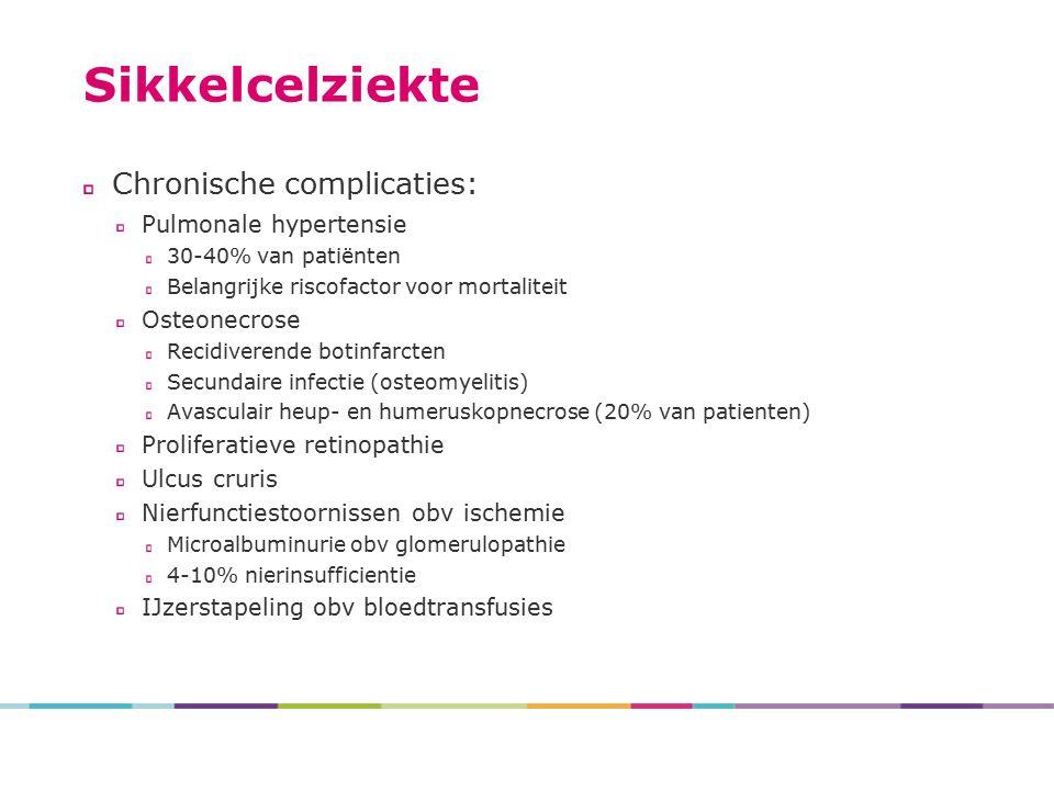 Sikkelcelziekte Chronische complicaties: Pulmonale hypertensie