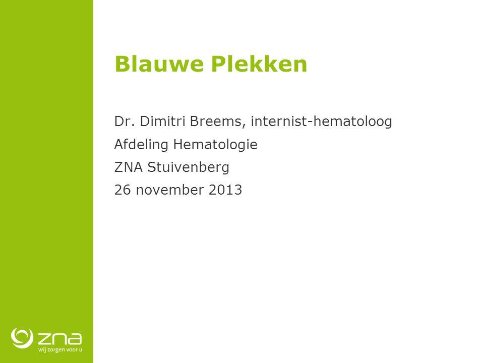 Blauwe Plekken Dr. Dimitri Breems, internist-hematoloog