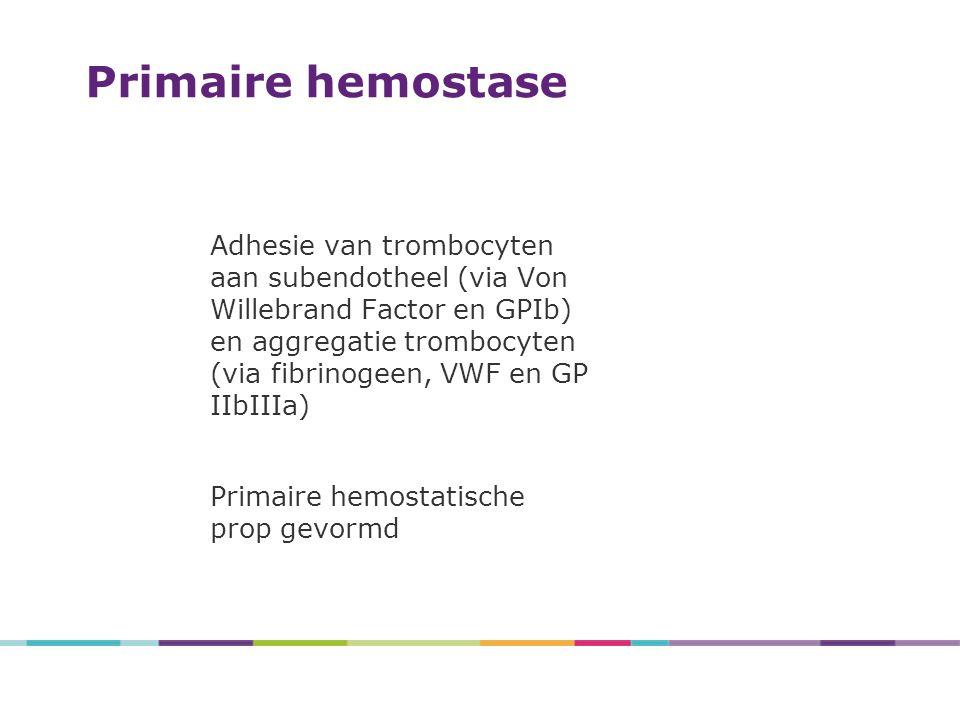 4/27/2017 Primaire hemostase.
