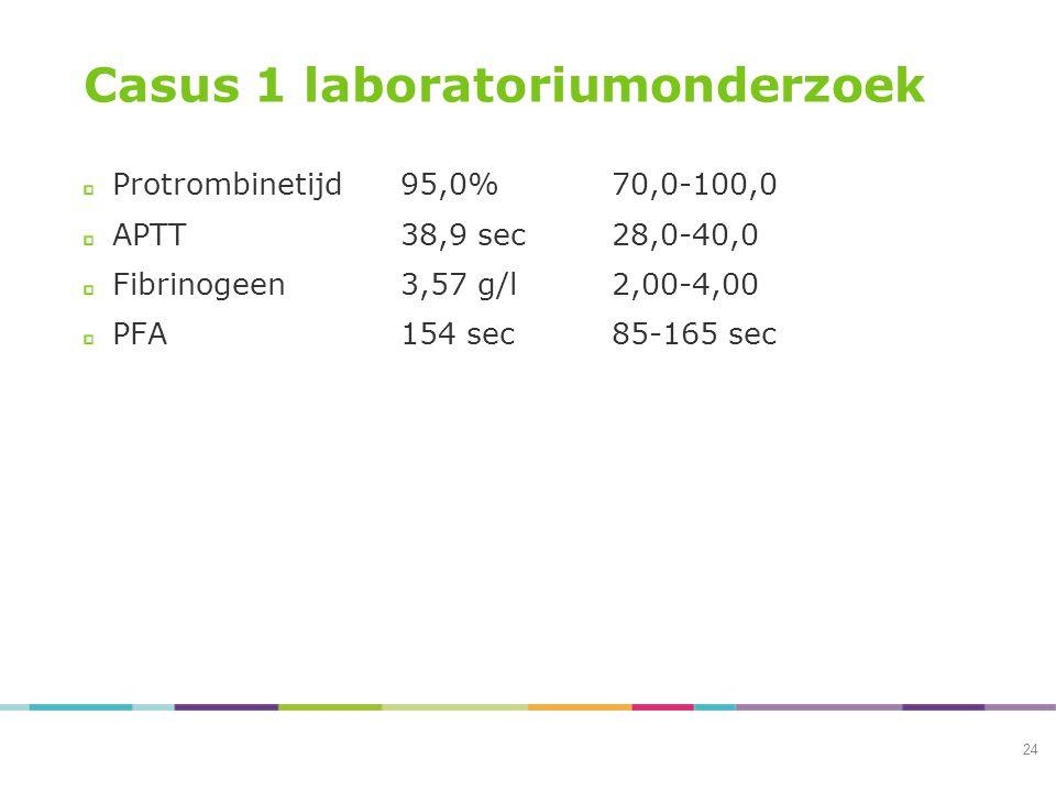 Casus 1 laboratoriumonderzoek