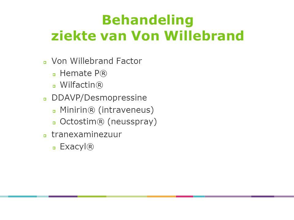 ziekte van Von Willebrand