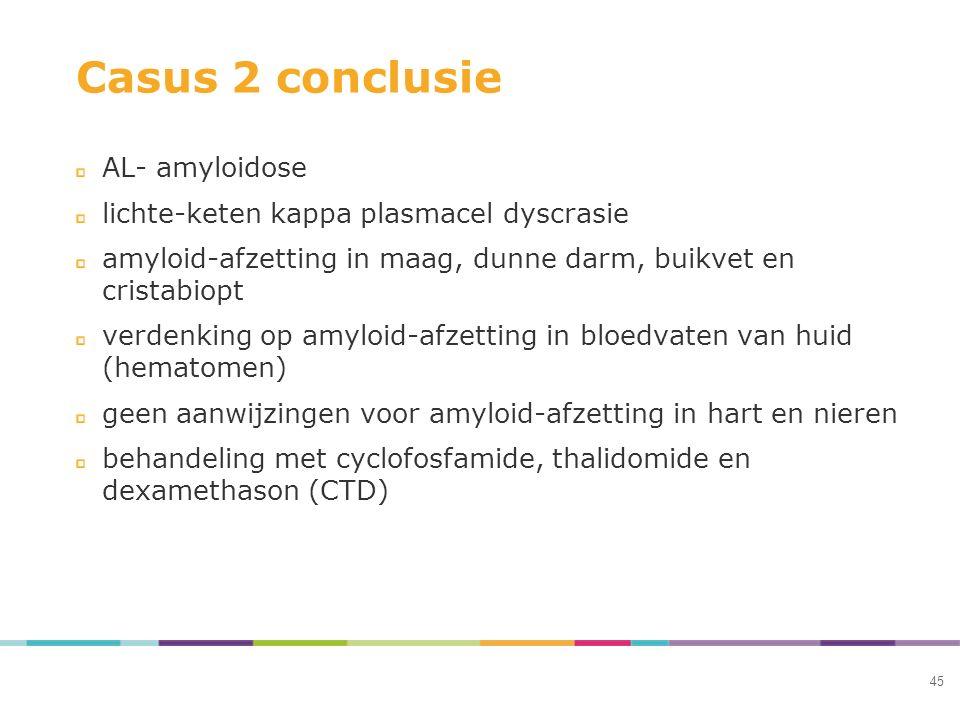 Casus 2 conclusie AL- amyloidose