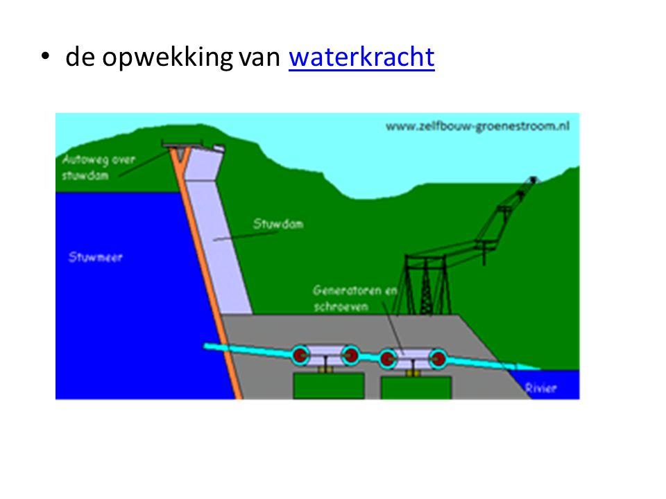 de opwekking van waterkracht
