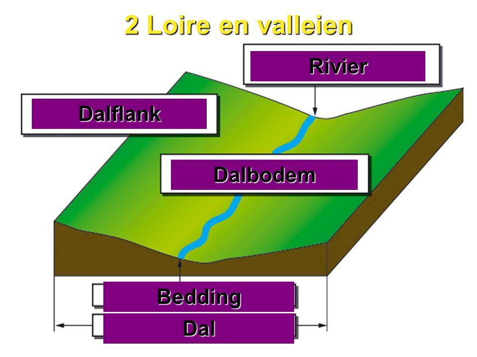 2 Loire en valleien Rivier Dalflank Dalbodem Bedding Dal