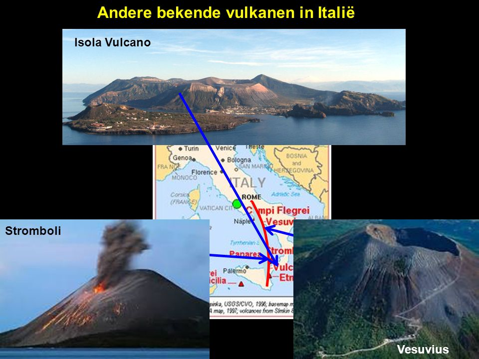 Andere bekende vulkanen in Italië