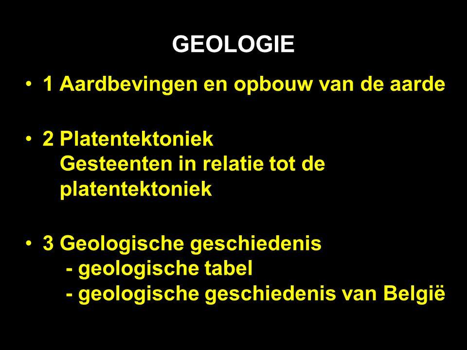 GEOLOGIE 1 Aardbevingen en opbouw van de aarde
