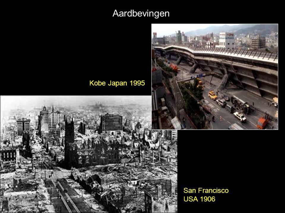 Aardbevingen Kobe Japan 1995 San Francisco USA 1906
