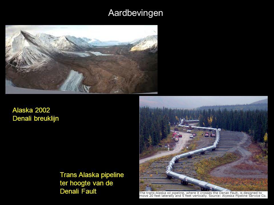 Aardbevingen Alaska 2002 Denali breuklijn
