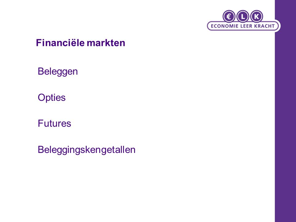 Beleggen Opties Futures Beleggingskengetallen