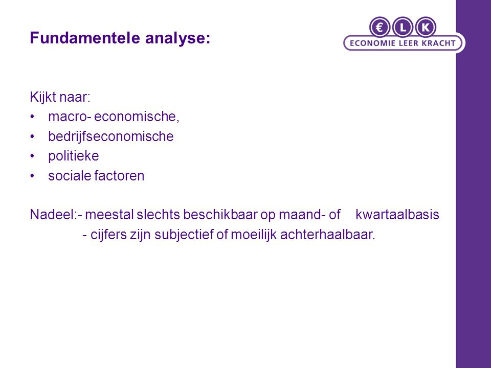 Fundamentele analyse: