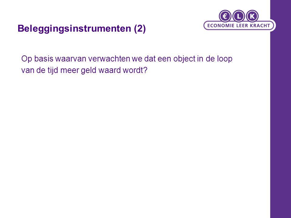 Beleggingsinstrumenten (2)