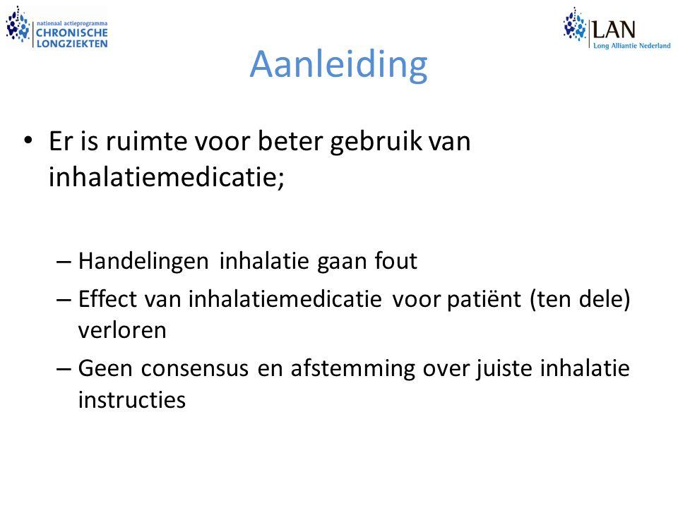 Aanleiding Er is ruimte voor beter gebruik van inhalatiemedicatie;