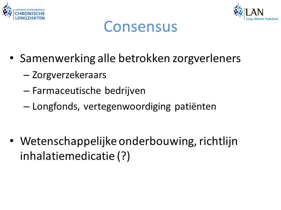Consensus Samenwerking alle betrokken zorgverleners