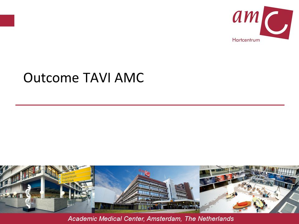 Outcome TAVI AMC