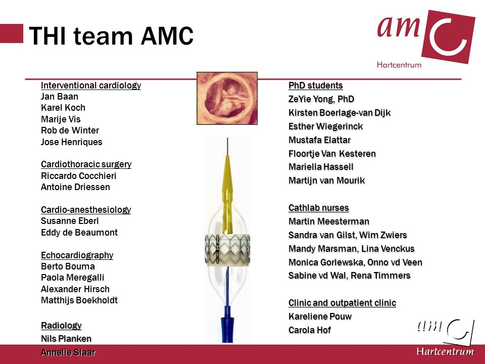 THI team AMC PhD students Interventional cardiology Jan Baan