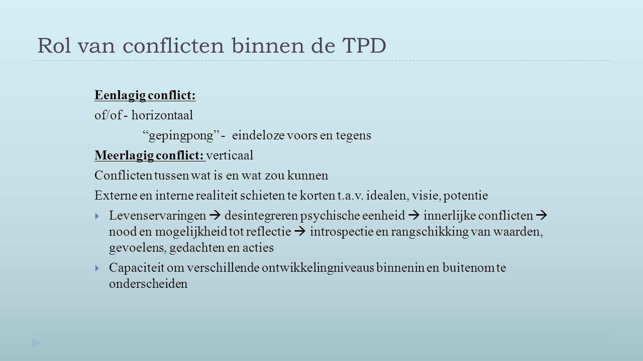 Rol van conflicten binnen de TPD