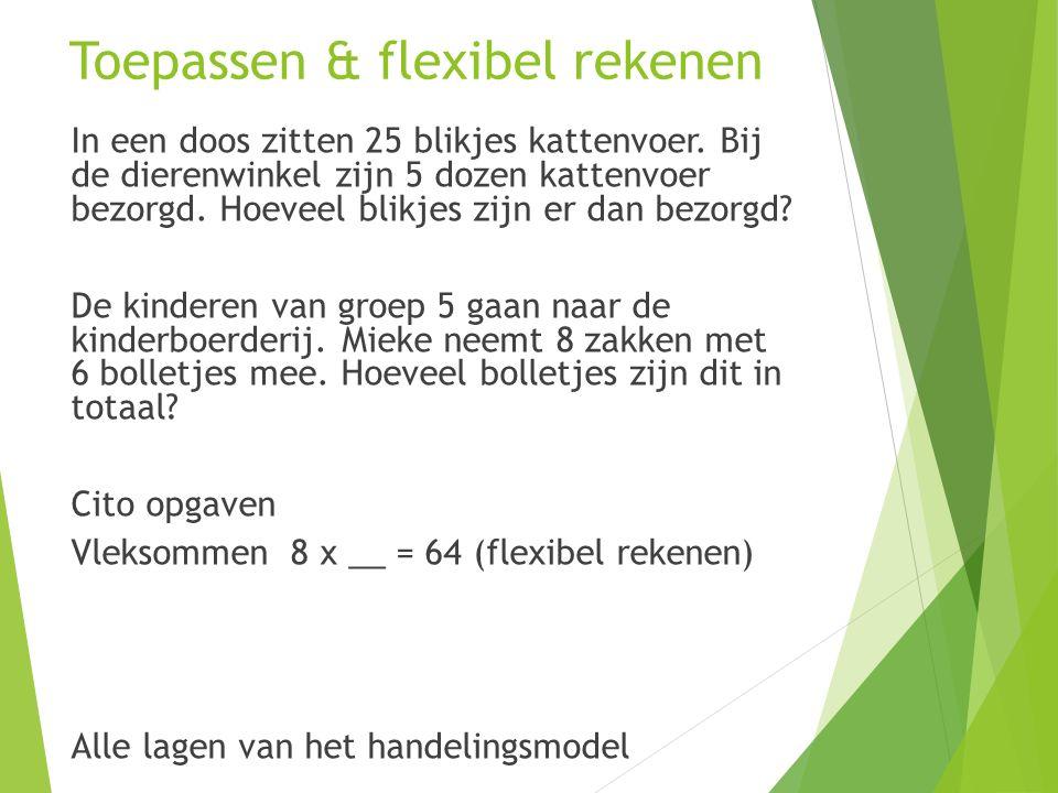 Toepassen & flexibel rekenen