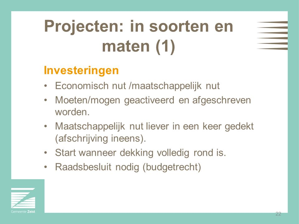 Projecten: in soorten en maten (1)