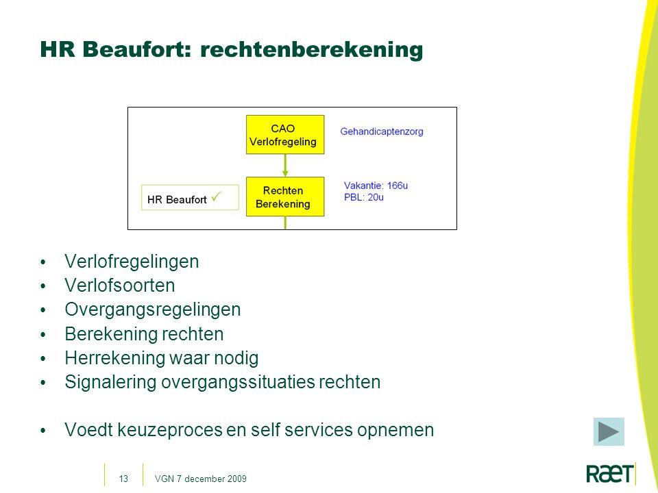 HR Beaufort: rechtenberekening