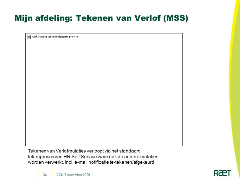 Mijn afdeling: Tekenen van Verlof (MSS)