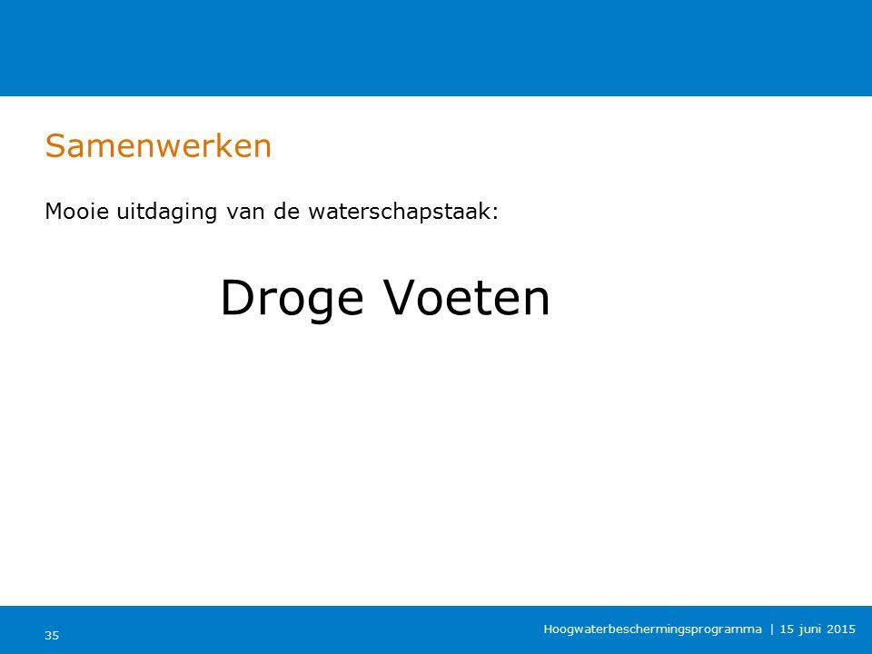 Samenwerken Mooie uitdaging van de waterschapstaak: Droge Voeten