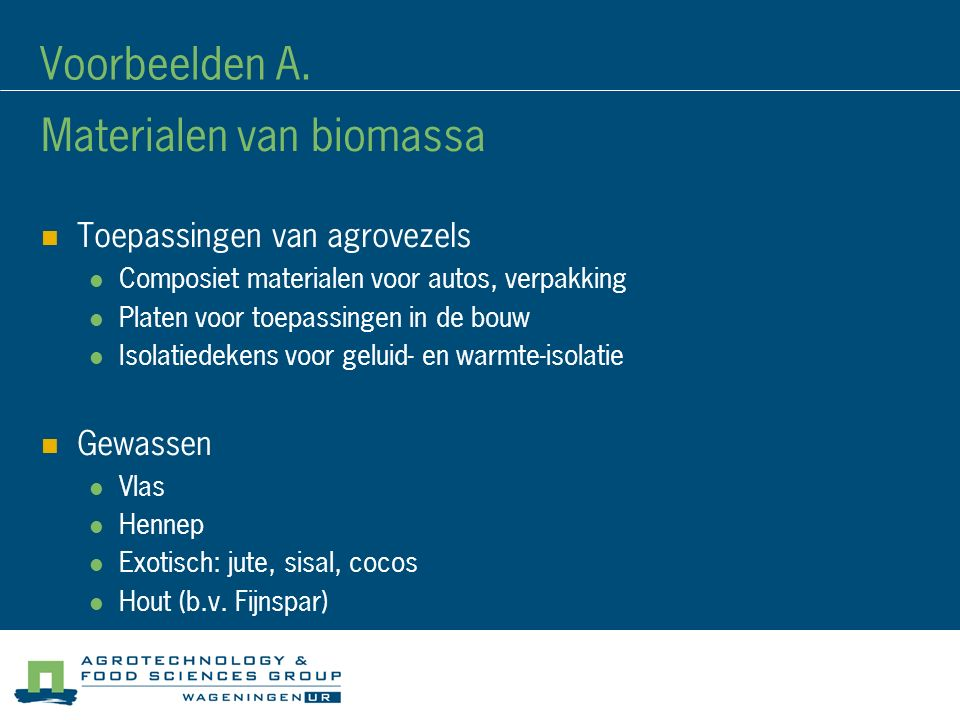 Materialen van biomassa