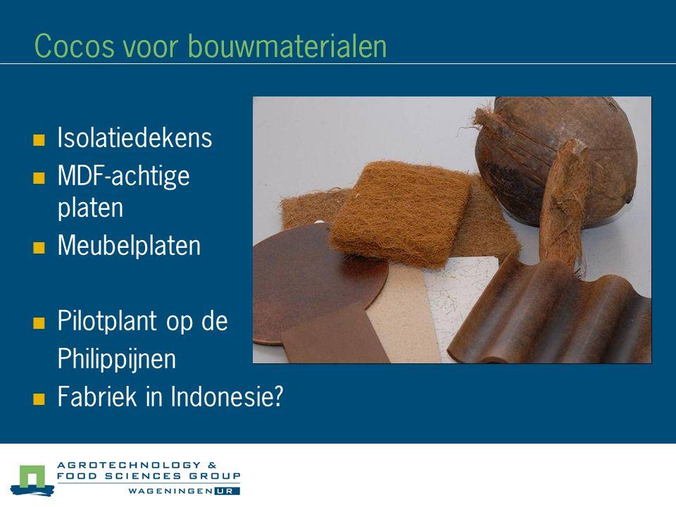 Cocos voor bouwmaterialen