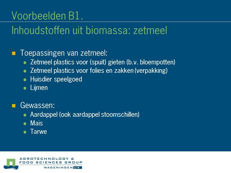 Inhoudstoffen uit biomassa: zetmeel