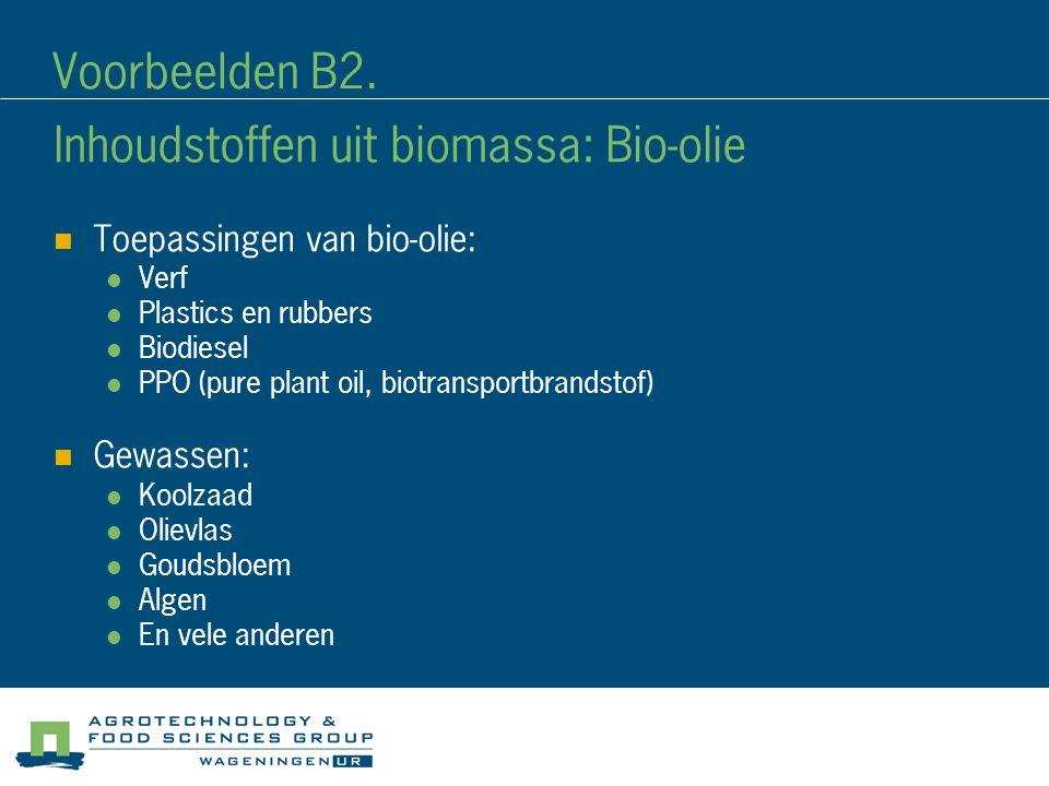 Inhoudstoffen uit biomassa: Bio-olie