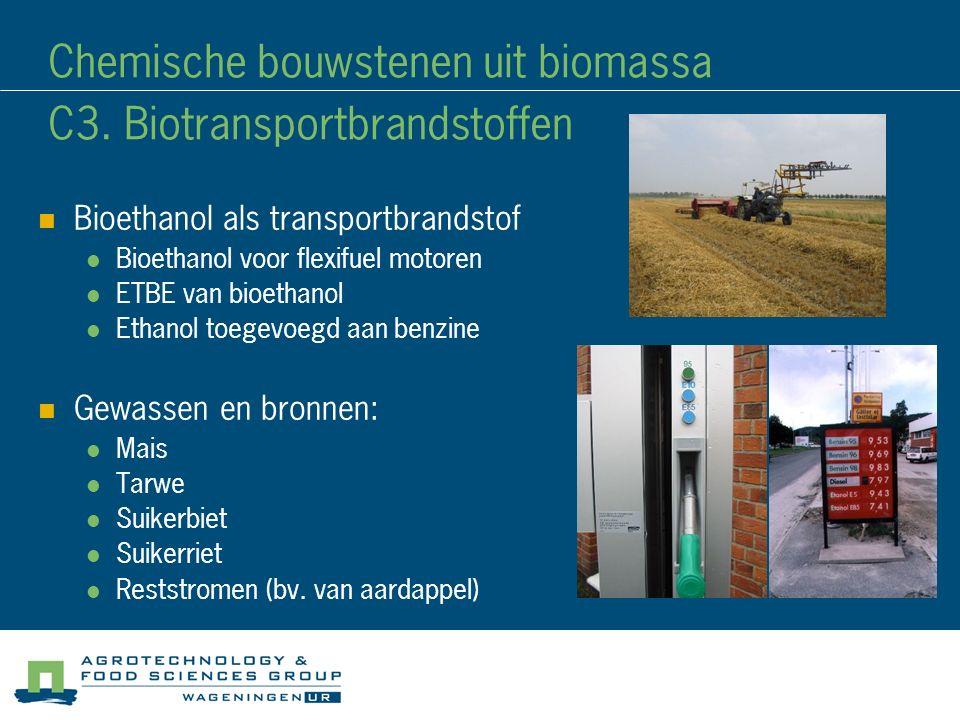 Chemische bouwstenen uit biomassa C3. Biotransportbrandstoffen